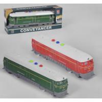 Поезд RJ 024 (72/2) 2 цвета, свет, звук, инерция, в коробке