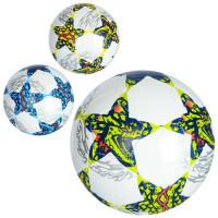 Мяч футбольный EN 3231 (30шт) размер 5, ПВХ 1,6мм, 300-320г, 3 цвета, в кульке