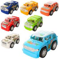 Машинка 996-1-5 (360шт) инер-я, 13см, 7видов, в кульке, 13-7-7см