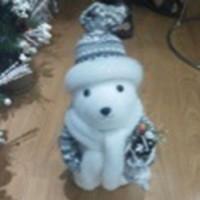 """Новогодняя фигура """"Полярный медведь"""" 28см 6032-1-2 (60шт)"""