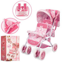 Коляска 90321 для куклы, двухместная, прогулочная, сумка, 70-40-72см