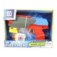 Пистолет RD8836-M-8850 (24шт) 22см, мягкие пули-присоски 3шт, 2вида (1в-AV), в кор-ке, 28-18,5-6см