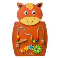 Деревянная игрушка Бизиборд MD 2005 (4шт) животное,55-35см,лабиринт на пров,трещотка,кор,38-57-7,5см