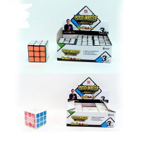 Кубик EQY520 (144шт) 6см, в кульке, 2вида, 6шт в дисплее,18,5-12,5-7см