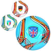Мяч футбольный EV 3282 (30шт) размер5, ПВХ, 300-320г, 3цвета, в кульке