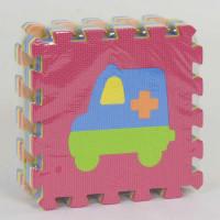 Коврик-пазл EVA Транспорт С 36607 (24) массажный, 9 эл. в упаковке, 30х30см