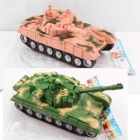 Танк 9909-1 (54шт) 27см, подвижный корпус, 2цвета, в кульке