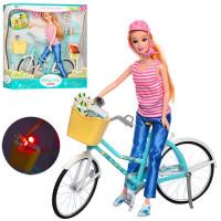 Кукла BYL608-1 (18шт) 29см, велосипед, шлем, корзина, аксессуары, в кор-ке, 32-32-8см