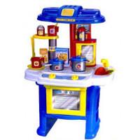 Кухня 08912 (8шт) посуда, духовка, 16 дет, звук, свет, на бат-ке, в кор-ке, 60-45-10см