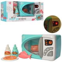 Микроволновка QF26134G (12шт) 24см, посуда, продукты, звук, свет, на бат-ке, в кор-ке, 44,5-21-15см