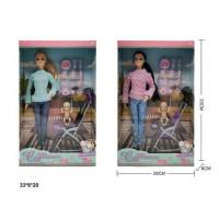 Кукла KQ117A з дитиною,коляскою та аксес.2в.кор.33*6*20 /60/