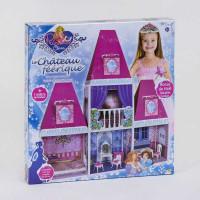 Домик кукольный 6990 (6) 2 этажа, 4 комнаты, мебель, высота 100 см, в коробке [Коробка]