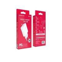 Зарядний пристрій для мобільних телефонів СЗУ BOROFONE BA38A Plus Speedy PD20W charger set  White