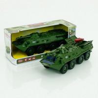 Танк 9629 А (24/2) звук, свет фар, ракета выдвигается, люки открываются, подвижные дуло и башня, ине