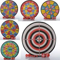Дартс M 1085 (120шт) 28см, на липучке, дротики 2шт, мячики 2шт, 6 видов, в кульке,28-28-3см
