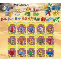 Трансформер YB188-18Y (240шт/2) цифры от 0 до 9, в пакете 16*20,5см, микс в ящике