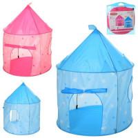Палатка MR 0030 (8шт) домик, 135-105см,на колышках,1вх./липуч, окно-сетка2шт,2цв, в сумке, 40-40-4см