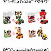 Трансформер 333-2-3-5-6 (60шт) ТБ, робот+траснпорт, 12см, в кор-ке, 16-17-8,5см