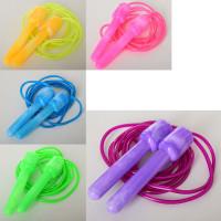 Скакалка MS 2843 (200шт) 270см, ручка пластик, жгут резина, 5цветов