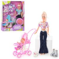 Кукла DEFA 20958 (24шт) с дочкой, собачка, щенки