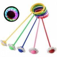 Скакалка MS 3235 (100шт) светящаяся нейроскакалка на одну ногу, 64см, толщина1,1см, 5цветов