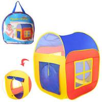 Палатка M 1441 (12шт) куб, 86-86-105см, 2вх-на липуч, 2окна-сетка, в сумке,38-38-5см