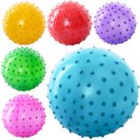 Мяч массажный MS 0021 (250шт) 3 дюйма, ПВХ, 20г, 6 цветов,