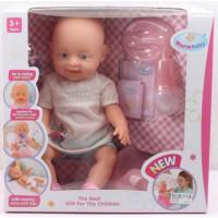 Пупс 8007-440 Warm baby, с двумя сосками, плачет слезками, с аксессуарами, в коробке