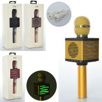 Микрофон X15121 (10шт) 24см, аккум,MP3, TF, свет,USBзаряд, микс цветов, в кор-ке, 28-10,5-8см