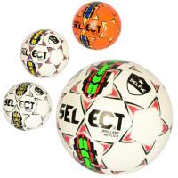 Мяч футбольный MS 2341 (30шт) размер 5, ПВХ 2,7мм, 280-300г, 4 цвета, в кульке