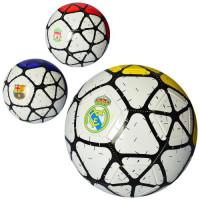 Мяч футбольный EV 3294 (30шт) размер 5, ПВХ 1,8мм, 2слоя, 32панели, 300-320г, 3вида(клубы),в кульке,
