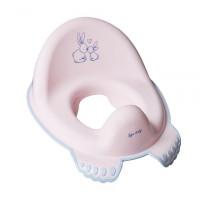 """Туалетне сидіння """"Зайчики"""" з гумками протиковзними (Світло-рожевий)/""""TEGA""""KR-002-104"""