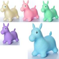 Прыгуны-лошадки MS 0737-2 (12шт) ПВХ, 1250г, 58-28-50см, 5цветов, блестки, в кульке, 31-22-10см