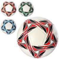Мяч футбольный EN 3233 (30шт) размер 5, ПВХ 1,6мм, 300-320г, 4 цвета, в кульке,