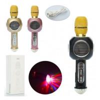 Микрофон X13375 (8шт) 27см,свет,MP3,Bluetooth,SDслот,аккум,USBзар,микс цв,в кор-ке,13-32-10см