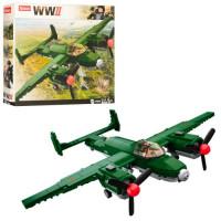 Конструктор SLUBAN M38-B0688 (16шт) военный, самолет, фигурка, 311дет, в кор-ке,33-28,5-7см
