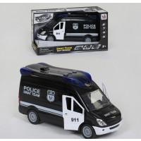 Машина Полиции 666-12 P (24) свет, звук, инерция, открываются двери, в коробке [Коробка]
