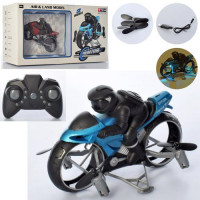 Мотоцикл TY-T19 (12шт) р/у, аккум, 12,5см, свет, летает, USBзарядное, 2цвета, в кор-ке, 19-16-8см