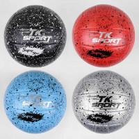 Мяч волейбольный C 44412 (60) 4 вида, вес 300 грамм, материал PU, баллон резиновый