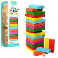 Деревянная игрушка Игра MD 1210 (50шт) башня, 26см, в кор-ке, 27,5-8-8см