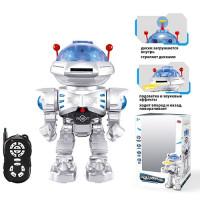 Робот 9894 (18шт) д/у(ИК),30см,муз,зв(англ),свет,ходит,стреляет дисками, бат,в кор-ке,21,5-32-15,5см