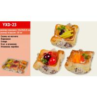 Антистресс YXD-23 (1724469) (100уп по 6шт) пирожное, 3 вида,на магните, в боксе 15*5,5*22 см/цена за