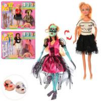 Кукла с нарядом DEFA 8411 (24шт) 28см,маски,аксессуары,платье,3 вида, на листе,42-33-4см