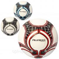 Мяч футбольный 2500-65ABC (30шт) размер5,ПУ1,4мм,32панели,ручн.работа,400-420г,3цвета,