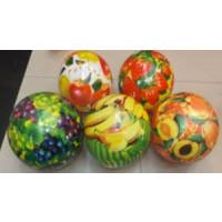 """Мяч 9"""" BT-PB-0027 фрукты и ягоды 5в.60г сетка ш.к./300/"""