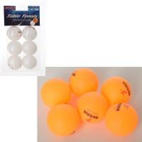 Теннисные шарики MS 2383 (240шт) 40мм, PP, бесшовный, 1упаковка 6шт, 2цвета,в слюде,11-19-4см
