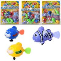 Водоплавающая игрушка 6082-83-85 (480шт) морские обитат,от 8см,3вида,в куль, 8шт на листе, 28-35-4см