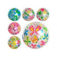 Мяч детский MS 0246 (120шт) 9 дюймов, рисунок, ПВХ, 75г, 6 видов, перламутр