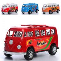 Автобус 595-14-15 (360шт) инер-й, 16,5см, 2вида по 2цвета, в кульке,16,5-7,5-7см