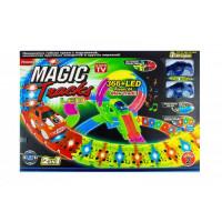 """Трек """"MAGIC"""" зі світлом (2 машинки) в коробці PT366LED р.59,3*40,5*8см."""